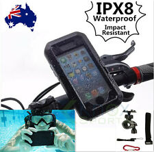 IPX8 Waterproof Bike Phone Case Bicycle Mount Holder Swimming Cover iPhone 5/5S