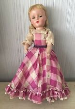 """VINTAGE MADAME ALEXANDER Little Women? Character DOLL With Dress 14"""" Antique"""
