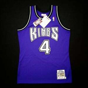 100% Authentic Chris Webber Mitchell Ness 98 99 Kings Jersey Size 40 M Mens