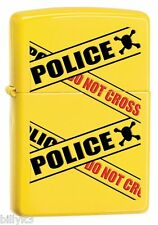 Zippo Police Caution Tape Lighter -  #28060 - FREE SHIPPING