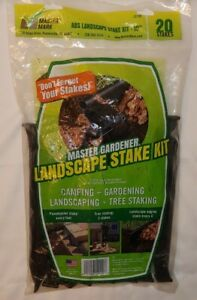 """20 10"""" Master Mark 12120 ABS Plastic Stake Anchors Camping Edging Tree Landscape"""