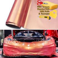 "480"" x 60"" Super Gloss Orange + Pink Vinyl Film Wrap Air Bubble Free 40ft x 5ft"