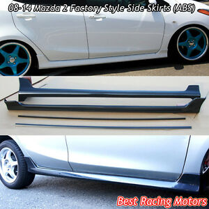 Factory Style Side Sills Skirts (ABS) Fits 08-14 Mazda 2