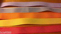 5 x 28cm 15mm Mixed Dotty Grosgrain Ribbon Cardmaking Scrapbooking 1