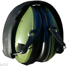 GDK GREEN EAR DEFENDERS, ELECTRONIC EAR MUFFS, EAR PROTECTION, SHOOTING MUFF