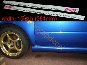 "15"" 381 Side Door Decal Sticker for tecnica sti impreza wrx GDB A B C 7 forester"