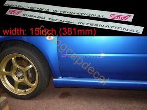"15"" 381 Side Door Decal Sticker for tecnica sti impreza wrx GDB A B C 7 forester"