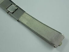 Vintage Mint Unused Stainless Kreisler butterfly clasp mesh watch band 17.5mm