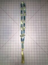 Light Blue Glass Beaded Swag Christmas Decoration Katherine's Collection