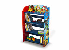 Bookshelf Storage Display Rack 4-Shelf Kid Toddler Bedroom Playroom Organizer