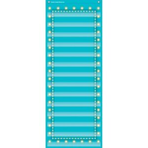 Marquee Light Blue 14-Pocket Chart by Teacher Created Resources