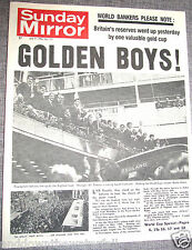 ENGLAND World Cup Winners 1966 Newspaper Wembley Sports Daily Mirror 2018 russia