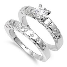 comes with a Free Gift Box Engagement Wedding Ring Set Size 5