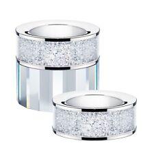 New Set of 2 Swarovski Crystal Filled Tea Light Candle Holders Living Room