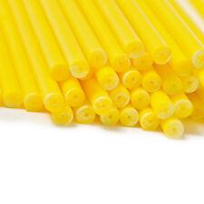 x50 114mm x 4mm Jaune Coloré Plastique Sucette Gâteau Pop Bâtons Artisanats