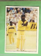 1985 SCANLENS CRICKET STICKER #80 WICKET KEEPER AMAL SILVA, SRI LANKA