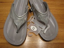Men's small S 7-8 grey thongs flip flops sandals Empire NEW