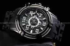 Invicta Men 51mm Bolt Sea Spider Hybrid Tri Cable Alloy Chron Triple Black Watch