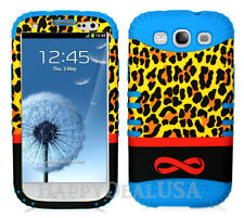 KoolKase Hybrid Silicone Cover Case for Samsung Galaxy S3 - Leopard Infinity GD