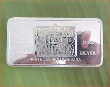 "RARE ! 10 Oz .999 Silver ""MAHONEY'S SILVER NUGGET CASINO, LAS VEGAS"" Art Bar D02"
