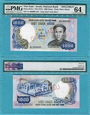 Vietnam South 1000 Dong P34As1 ND(1975) UNC - Specimen Giay Mau / PMG graded 64