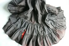 Vintage Black Lingerie Slip Skirt with Red Bow