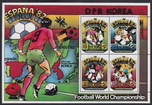 KOREA, 1981. World Cup Sheet 2025a Perf-Imperf, Mint **