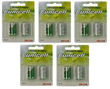 10 x CR123A Lithium Batterie ( 5 Blistercards a 2 Batterien) Markenware Eunicell