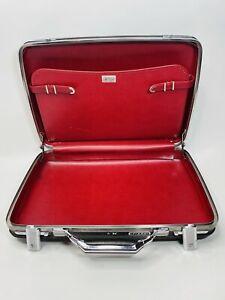 Vintage 60 American Tourister Suitcase Plaid Tiara Hard Shell 21 X 16 Red NO Key