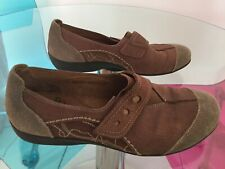 """Padders Leather Shoes """"peanut"""" Slip Ons Size 41"""