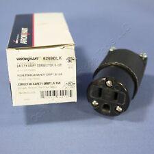 Cooper All-Black Industrial Connector Female Plug NEMA 5-15R 15A 125V 6269BLK