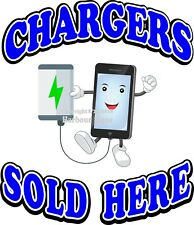 Chargers Sold Here Vinyl DECAL (Choose Your Size) Food Truck Concession Sticker
