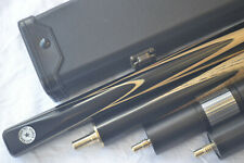 New 3/4 Handmade Ash Ebony Snooker Cue With Maple Splices Pool Cue 9.5mm Tip