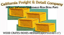 PLYWOOD CRATES/BOXES-LARGE (4pcs) N/1:160-Scale Craftsman CAL FREIGHT