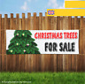 CHRISTMAS TREES FOR SALE XMAS WATERPROOF Outdoor Heavy Duty PVC Banner Sign 2058