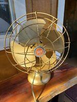 Vintage Diehl Oscillating Tilt Head Fan - (Works) RARE - Gold Cord Extended See