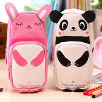 Storage Cosmetic Cute Cartoon Makeup Travel Pencil Case Pen Bag Box Stationery