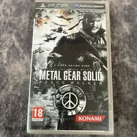 Metal Gear Solid Peace Walker Sony PSP Game NEW Sealed Konami Snake Rare