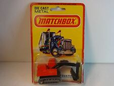 Matchbox #32 Red Atlas Excavator in package dated 1980
