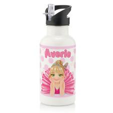 Personalised Princess Ballerina Girls 600ml Kids Children's Water Drinks Bottle