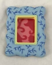 """Blue 2 3/4"""" X 3 3/4"""" Frame with Magnet Back - Holds 1.5X2"""" Photo"""