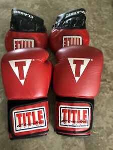 Title Boxing Gloves Red 16 ozLeather Gloves only