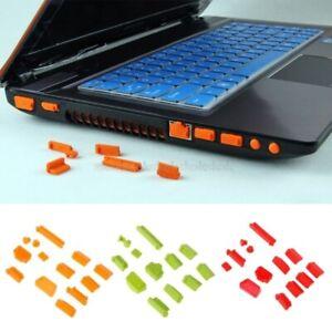 13pcs/set Cover Colorful Silicone Laptop Anti Dust proof Plug Universal Laptop