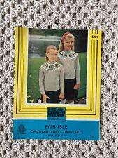 Shetland Fleece Fair Isle Knitting Pattern - Circular Yoke Girls Jumper/Cardigan