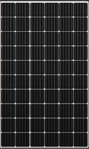 Panneau Solaire Photovoltaique 300W 24V Cadre Noir Monocristallin 5 BUS BAR