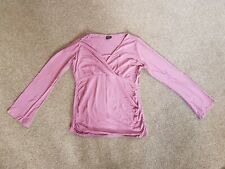 Ladies Maternity Pink Long Sleeved T-Shirt, Size 12, Moda, Mothercare