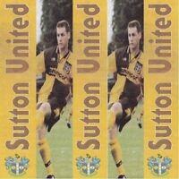 Programme Sutton United Football Club Home Game Programmes - Various Seasons