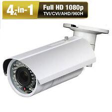 "1080P 2.6MP 4-in-1 L"" IR-CUT Color 42IR Varifocal Zoom Security Camera System 6"