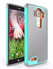 Fits LG G4 Case Shockproof Rugged Rubber Heavy Duty Impact Hybrid Cover  - Teal
