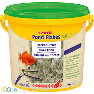 sera Pond Flakes Nature 3800mL All Natural Fish Food Flake for Smaller Pond Fish